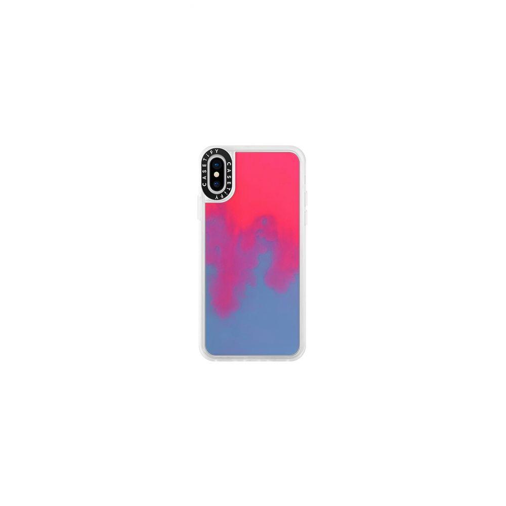 ケースティファイ Casetify レディース iPhone (X)ケース【Neon Sand iPhone X/XS Case】Pink & Blue