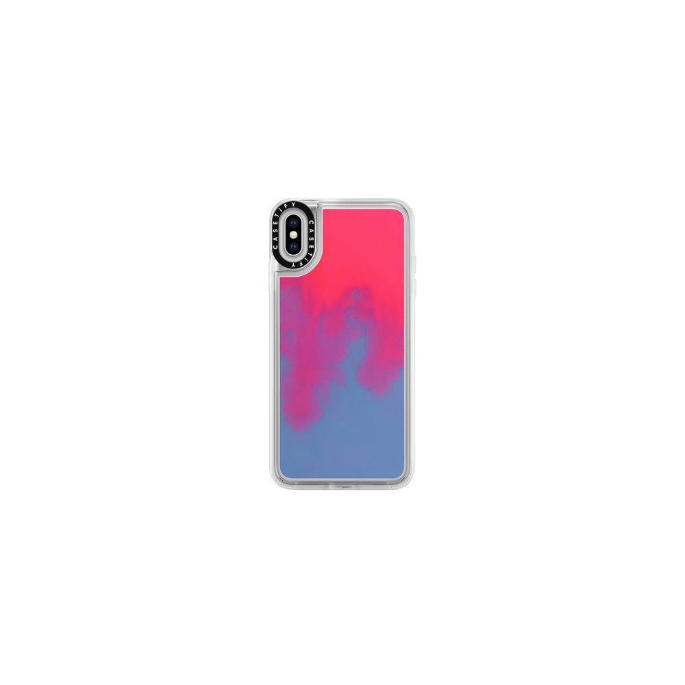 ケースティファイ Casetify レディース iPhone (X)ケース【Neon Sand iPhone XS Max Case】Pink & Blue