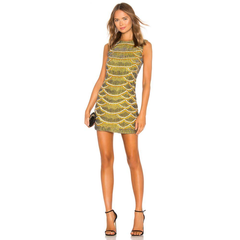 エックス by NBD X by NBD レディース ワンピース・ドレス ワンピース【Monty Embellished Python Mini Dress】Yellow