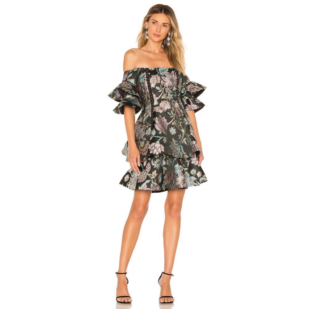 サーリー THURLEY レディース ワンピース・ドレス ワンピース【Oriental Jacquard Mini Dress】Multi Coral