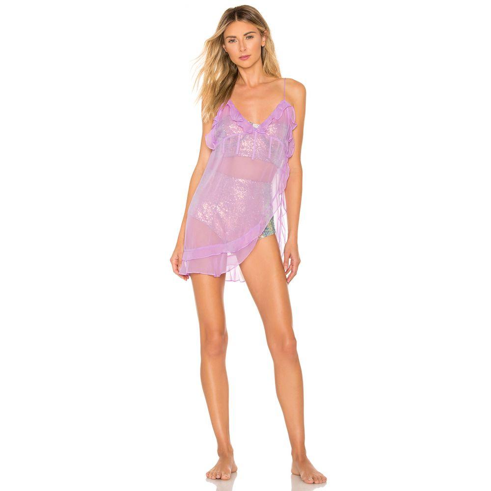 フォーラブアンドレモン For Love & Lemons レディース インナー・下着 スリップ・キャミソール【Priscilla Silk Chiffon Nightgown】Lilac