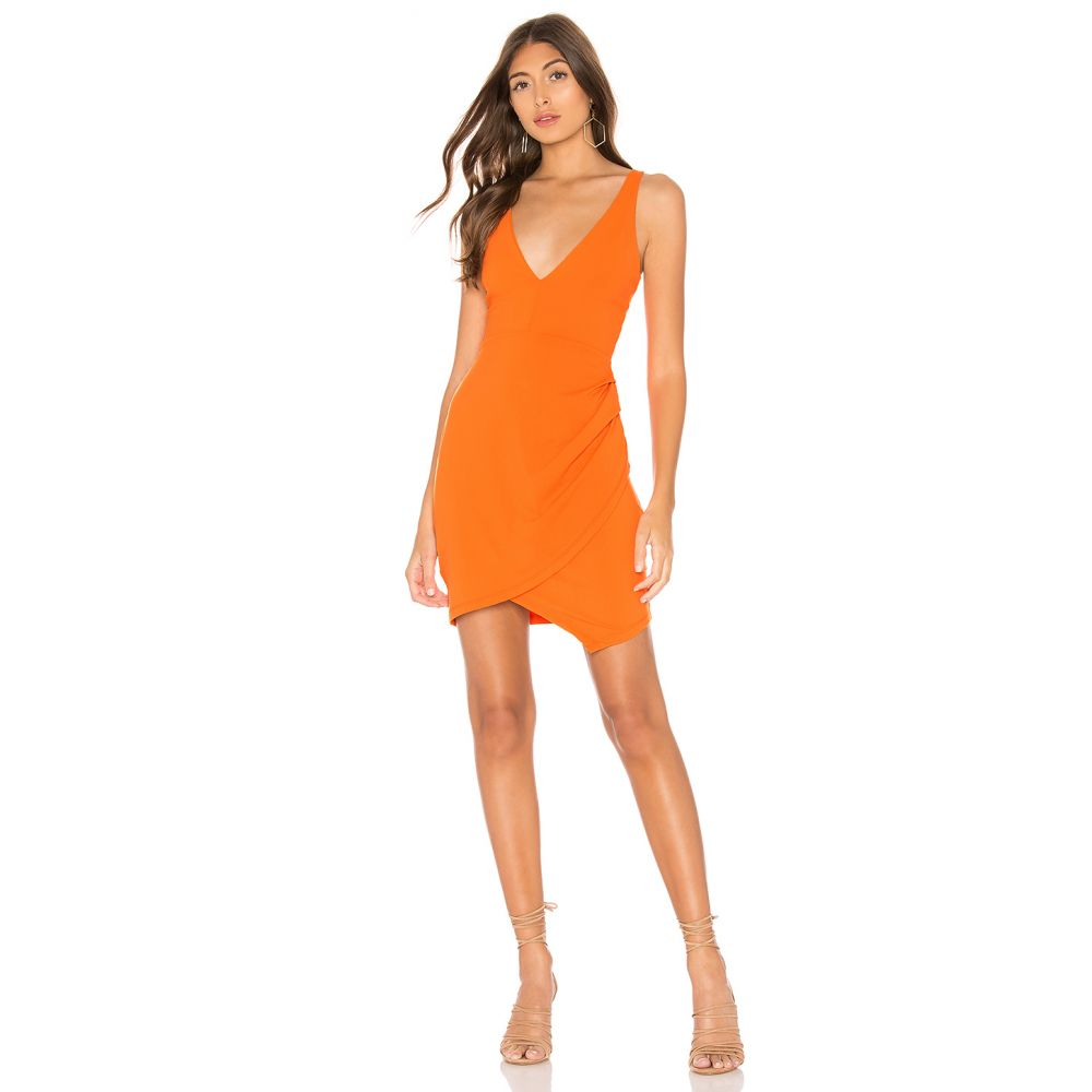 スサナ モナコ Susana Monaco レディース ワンピース・ドレス ワンピース【Plunge Neckline Side Pleat Dress】Marmalade