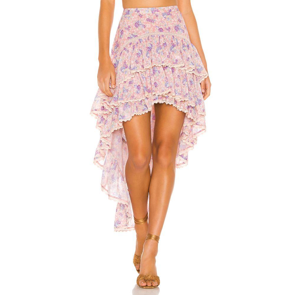 ラブシャックファンシー LoveShackFancy レディース スカート ひざ丈スカート【Ruffle Midi Skirt】Pink Garden