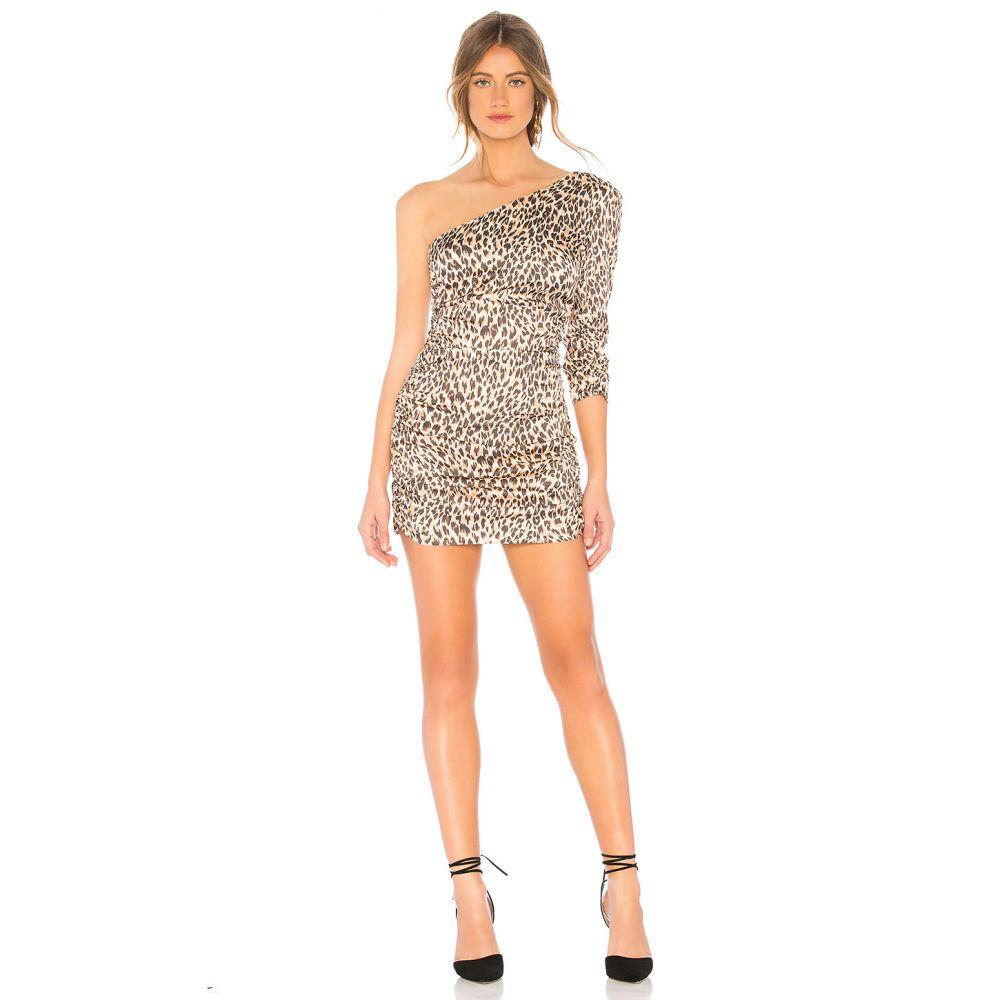 マジョレル MAJORELLE レディース ワンピース・ドレス ワンピース【Roberta Mini Dress】Tan Leopard