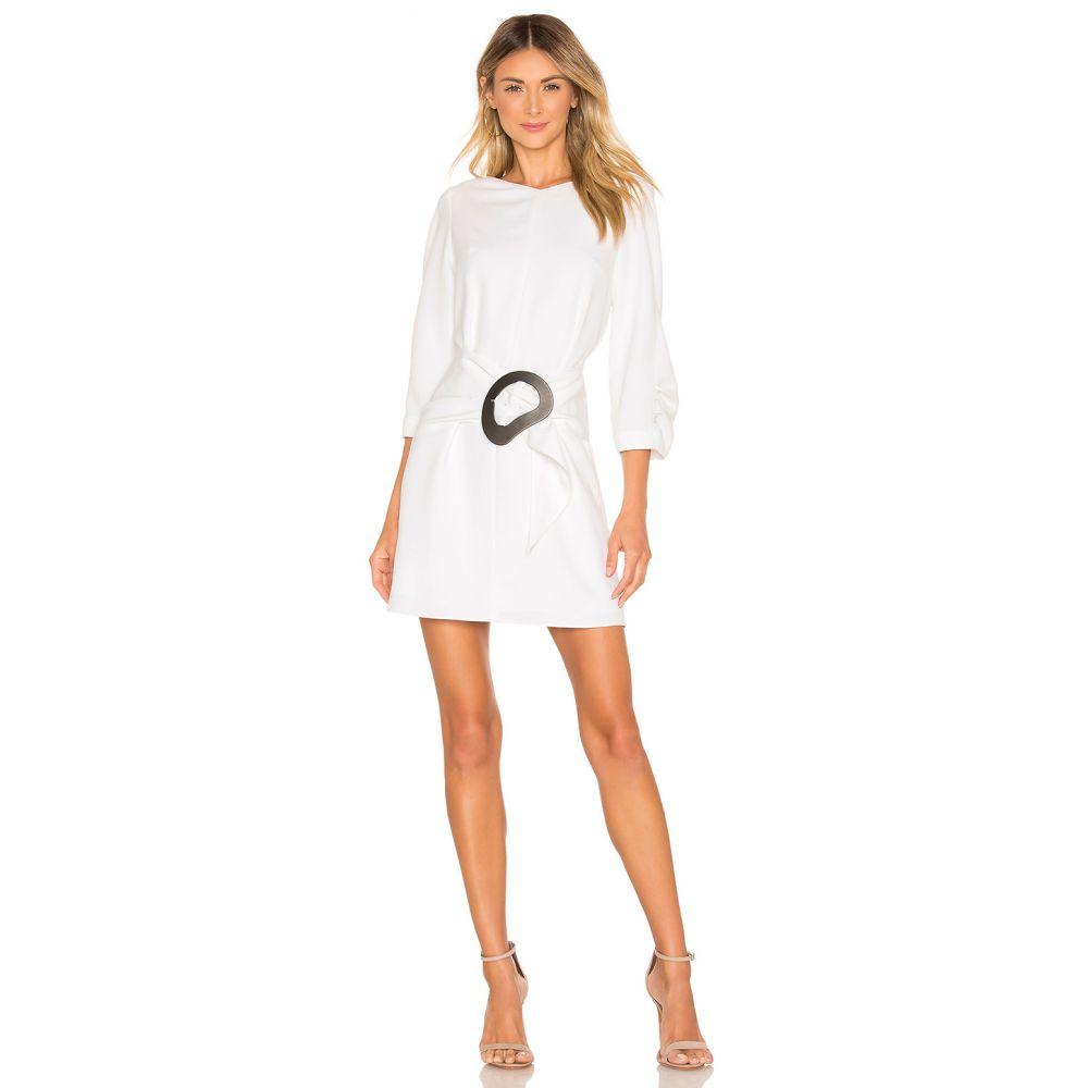 ティビ Tibi レディース ワンピース・ドレス ワンピース【Removable Belt Shirred Sleeve Dress】White