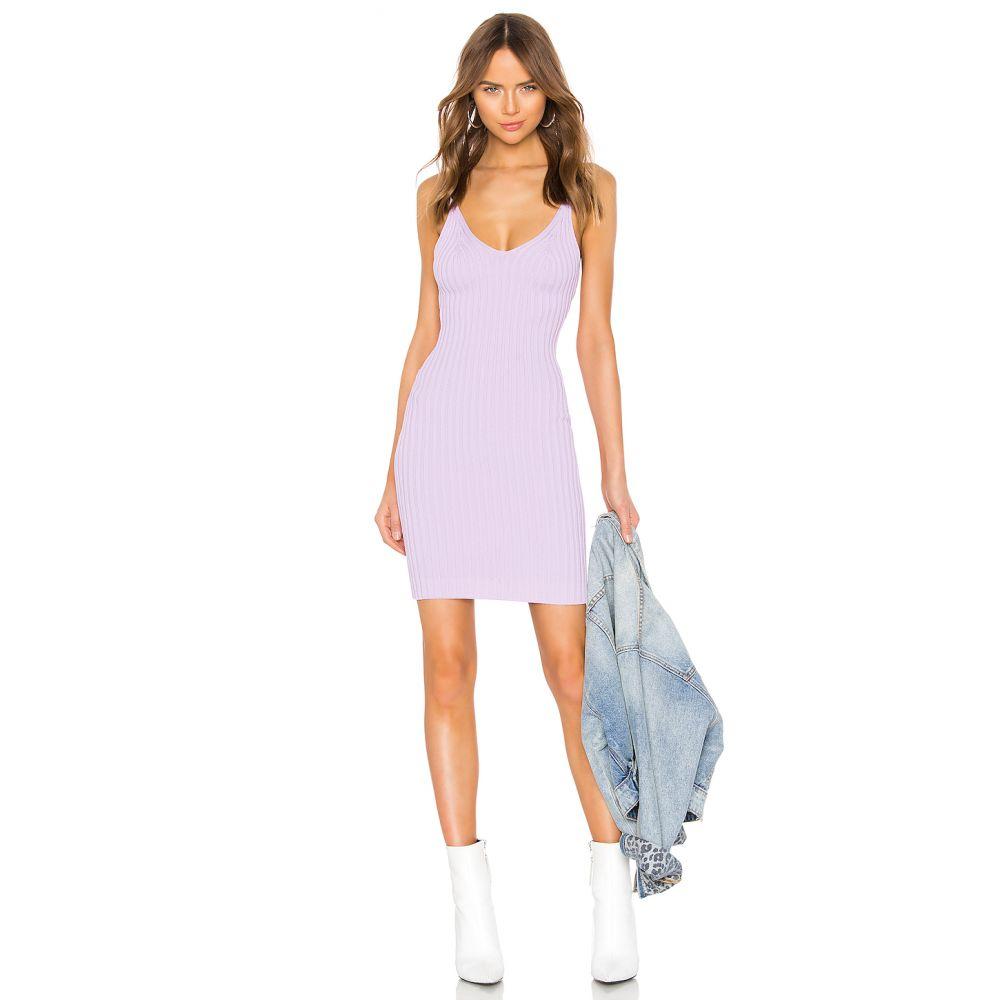 アレキサンダー ワン T by Alexander Wang レディース トップス タンクトップ【Shrunken Rib Fitted Tank Dress】Lavender