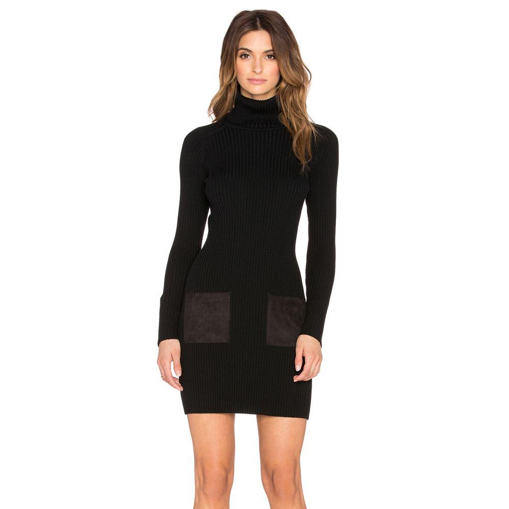 ミリー MILLY レディース ワンピース・ドレス ワンピース【Slim Rib Suede Pocket Dress】Black