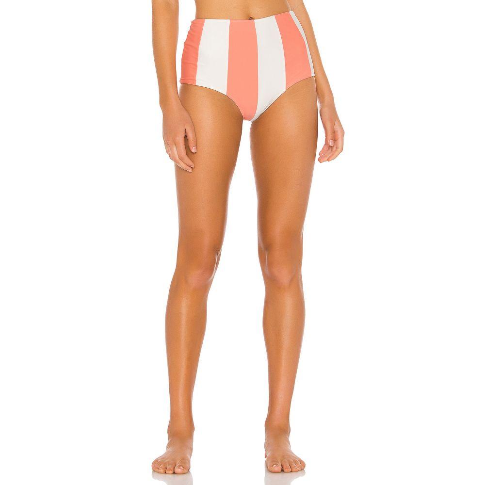 ペーパーロンドン Paper London レディース 水着・ビーチウェア ボトムのみ【Sunshine Bikini Bottom】Coral Coast Ivory & Grapefruit