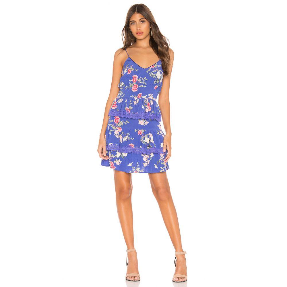 ラヴァーズフレンズ Lovers + Friends レディース ワンピース・ドレス ワンピース【Teresa Mini Dress】Feeling Blue Floral