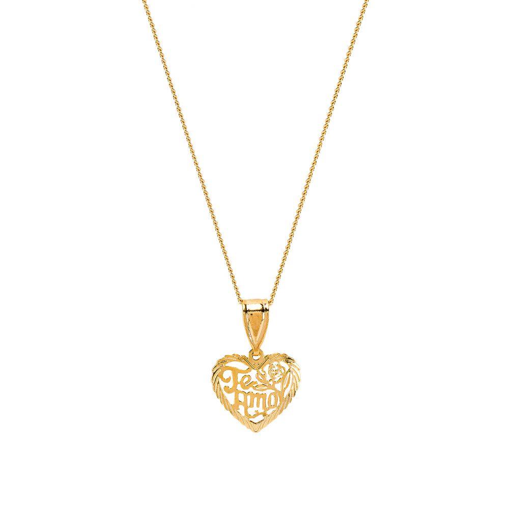ザ エム ジュエリー ニューヨーク The M Jewelers NY レディース ジュエリー・アクセサリー ネックレス【The Te Amo Heart Pendant Necklace】Gold