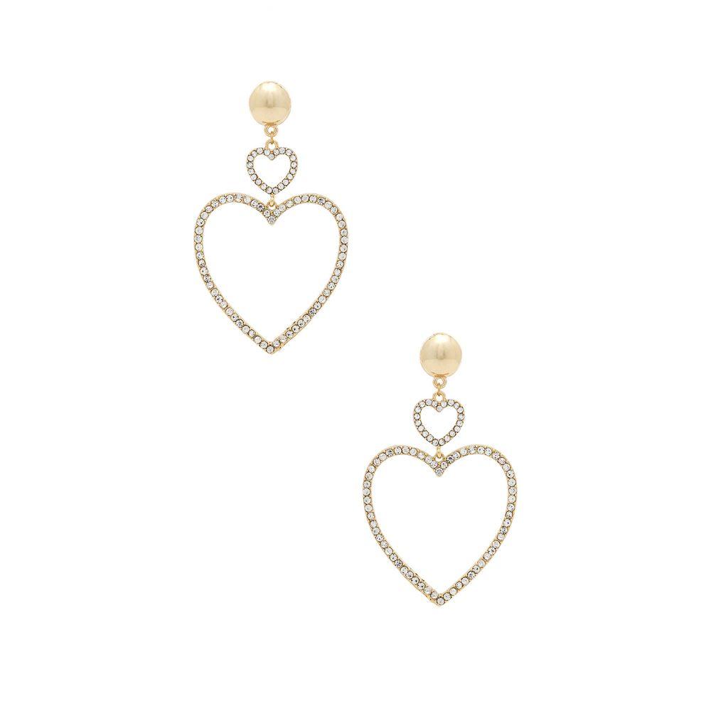 エティカ Earrings】Gold Ettika レディース ジュエリー・アクセサリー イヤリング・ピアス Drop【Two Hearts エティカ Drop Earrings】Gold, 富加町:d29ab815 --- campusformateur.fr