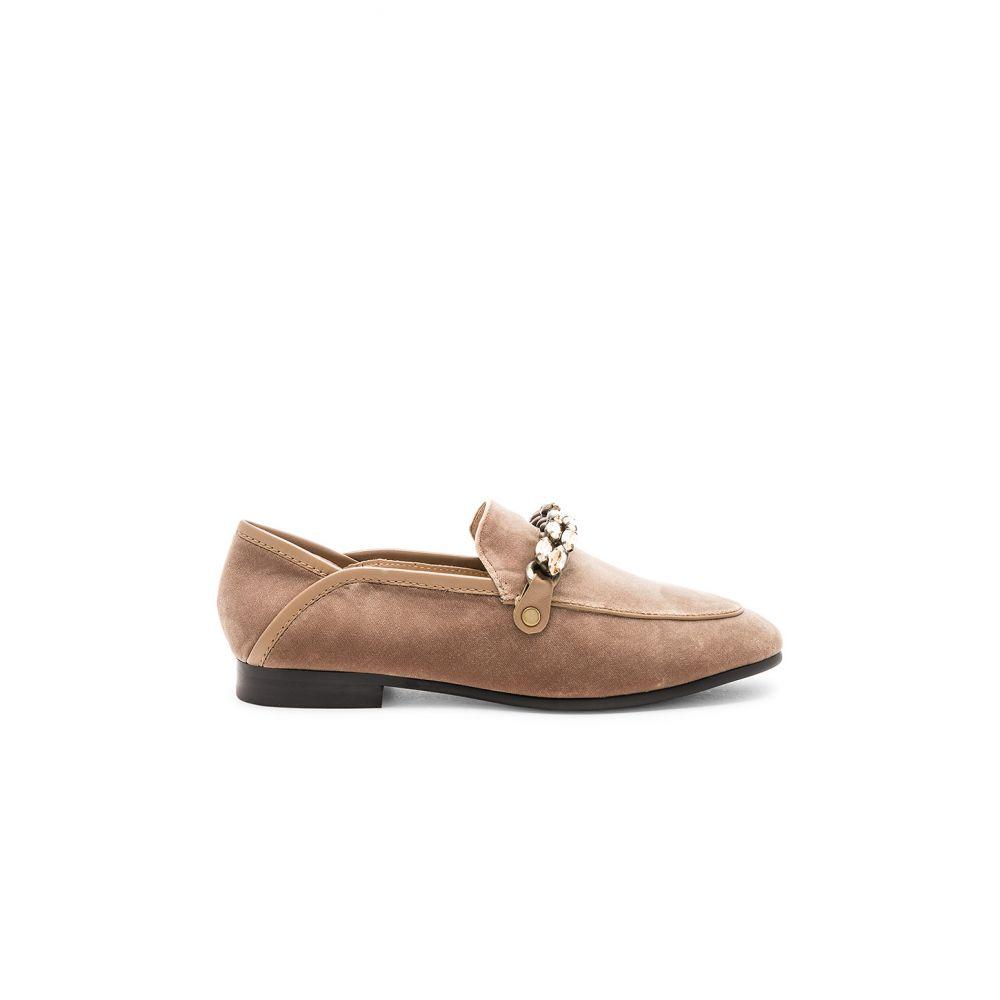 ローラ クルス Lola Cruz レディース シューズ・靴 ローファー・オックスフォード【Velvet Embellished Chain Loafer】Camel