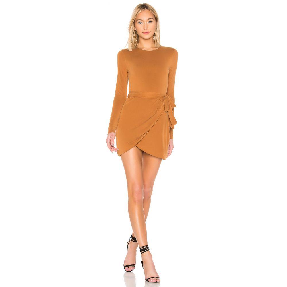 ハウスオブハーロウ1960 House of Harlow 1960 レディース ワンピース・ドレス ワンピース【x REVOLVE Rya Long Sleeve Dress】Spice Brown