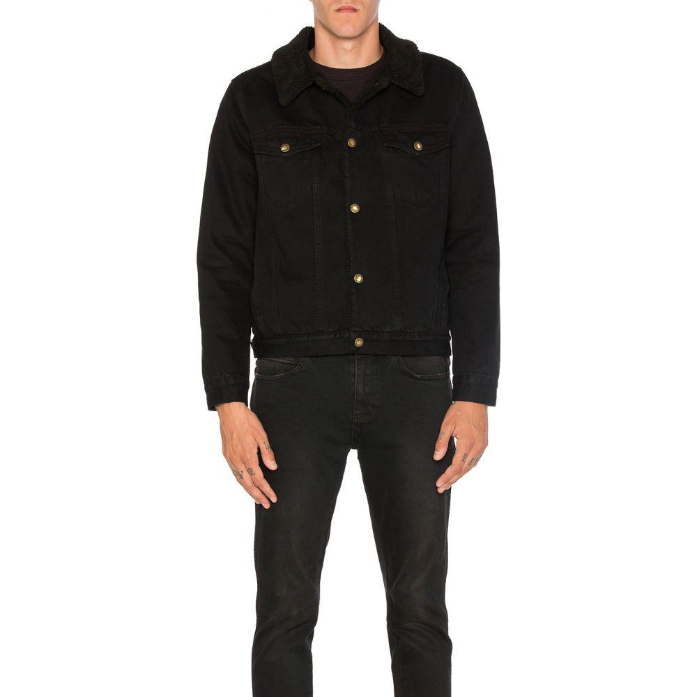 ローラズ ROLLA'S メンズ アウター ジャケット【Denim Sherpa Jacket】Jet Black