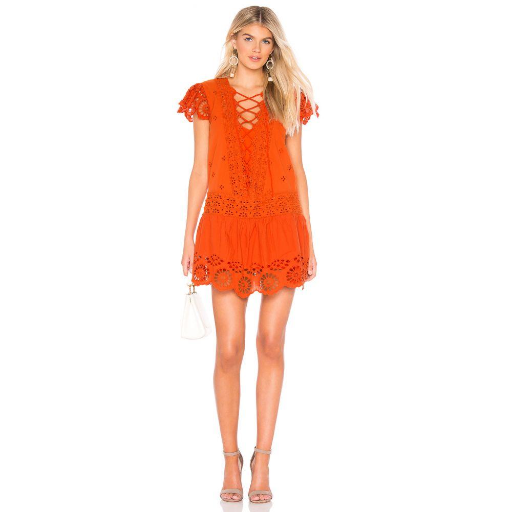 フリーピープル Free People レディース ワンピース・ドレス ワンピース【Esperanza Eyelet Mini Dress】Orange