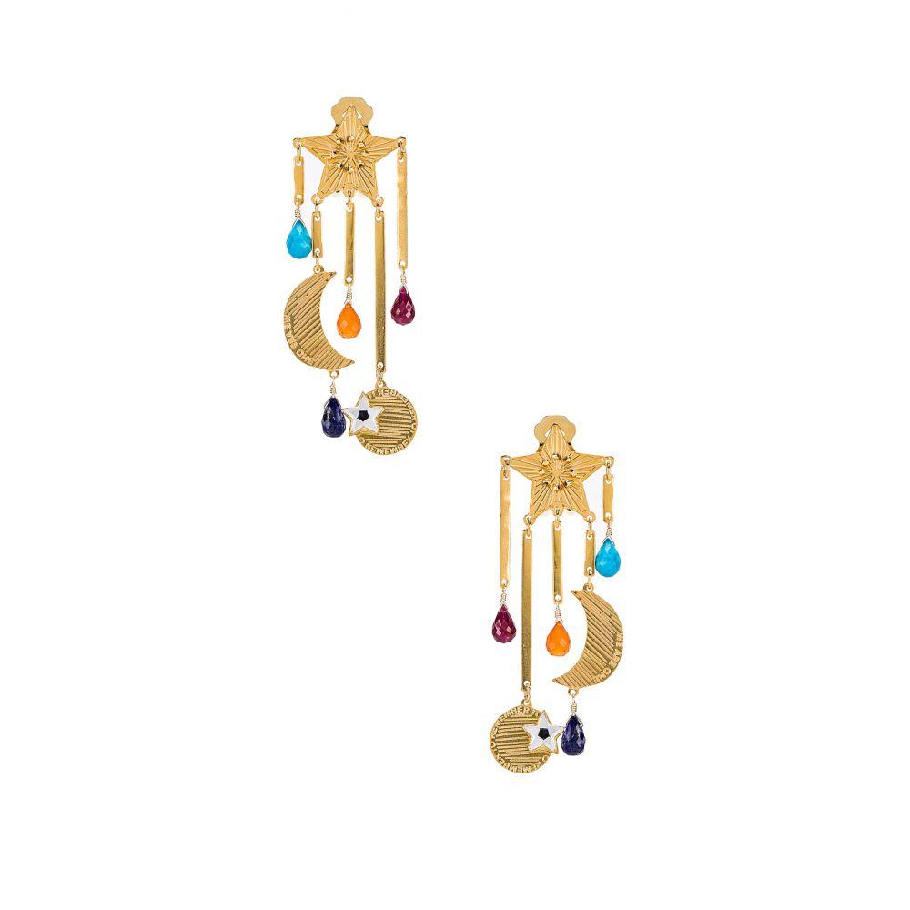 メルセデス サラザール Mercedes Salazar レディース ジュエリー・アクセサリー イヤリング・ピアス【Estrella Magica De Arcoiris Earrings】Gold
