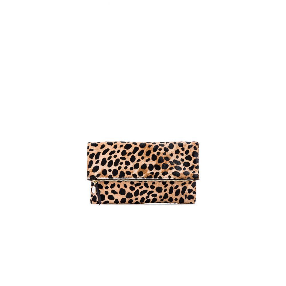 クレア Clutch】Leopard ヴィヴィエ Clare V. Hair Clare レディース バッグ クラッチバッグ【Foldover Calf Hair Clutch】Leopard, 虹橋サイクリング:c8581f31 --- sunward.msk.ru