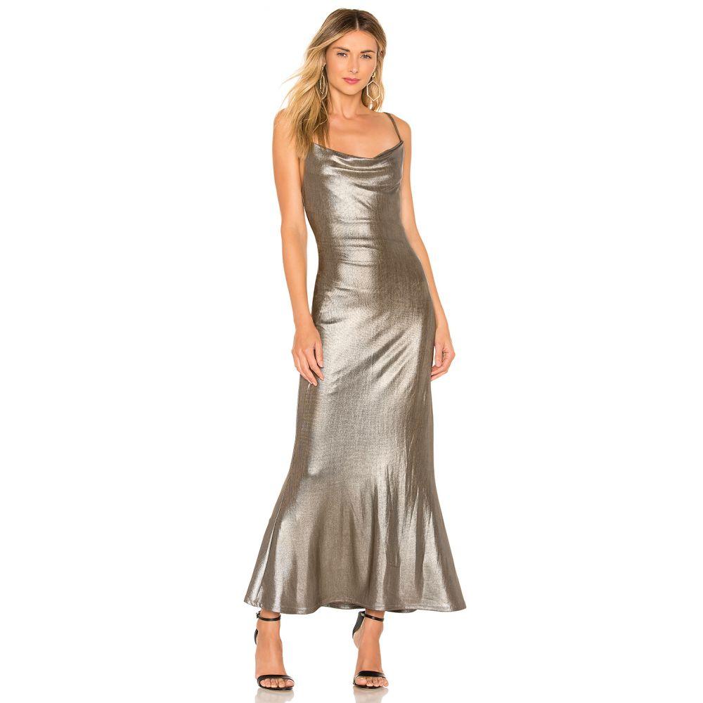 マジョレル MAJORELLE レディース ワンピース・ドレス ワンピース【Ezra Midi Dress】Metallic Bronze