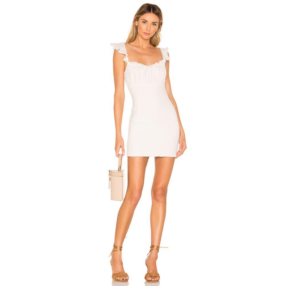 マジョレル MAJORELLE レディース ワンピース・ドレス ワンピース【Fanning Mini Dress】Ivory