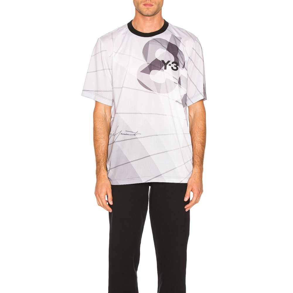 ワイスリー Y-3 Yohji Yamamoto メンズ トップス【Football Shirt】Parachute Core White