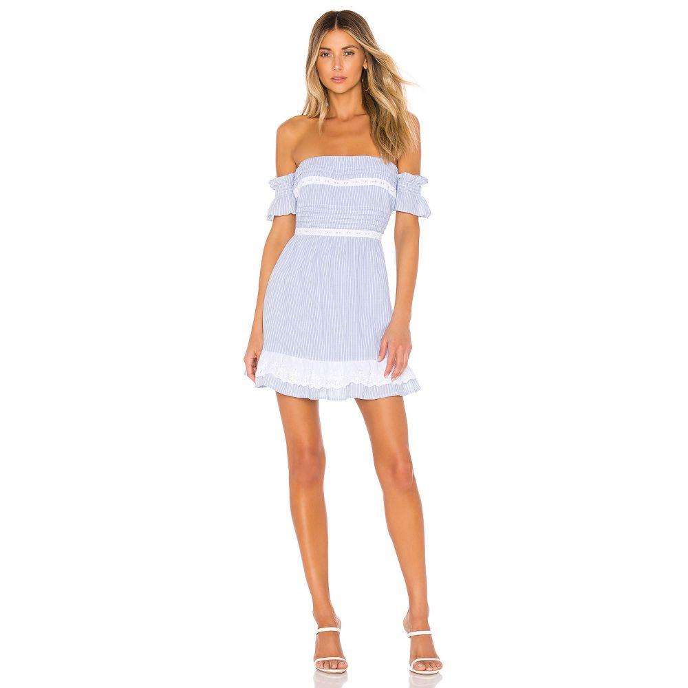 ハウスオブハーロウ1960 House of Harlow 1960 レディース ワンピース・ドレス ワンピース【x REVOLVE Adeline Dress】Dusty Blue Stripe