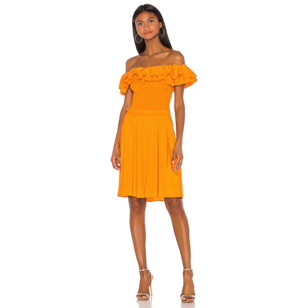ニコラス NICHOLAS レディース ワンピース・ドレス ワンピース【Ruffle Bustier Dress】Orange