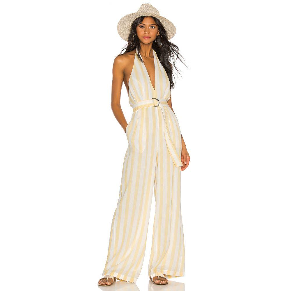 トゥラロサ Tularosa レディース ワンピース・ドレス オールインワン【Regina Jumpsuit】White & Yellow