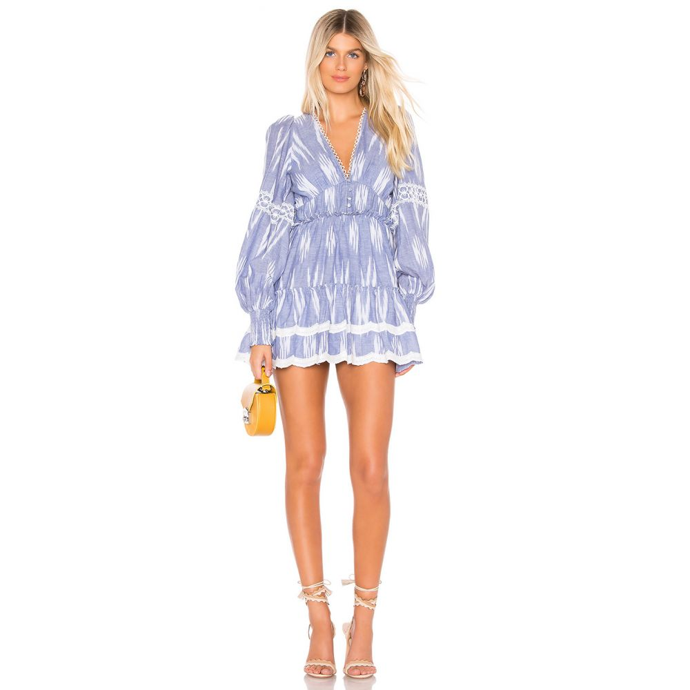 ヘマント&ナンディータ HEMANT AND NANDITA レディース ワンピース・ドレス ワンピース【x REVOLVE Mini Dress】Blue