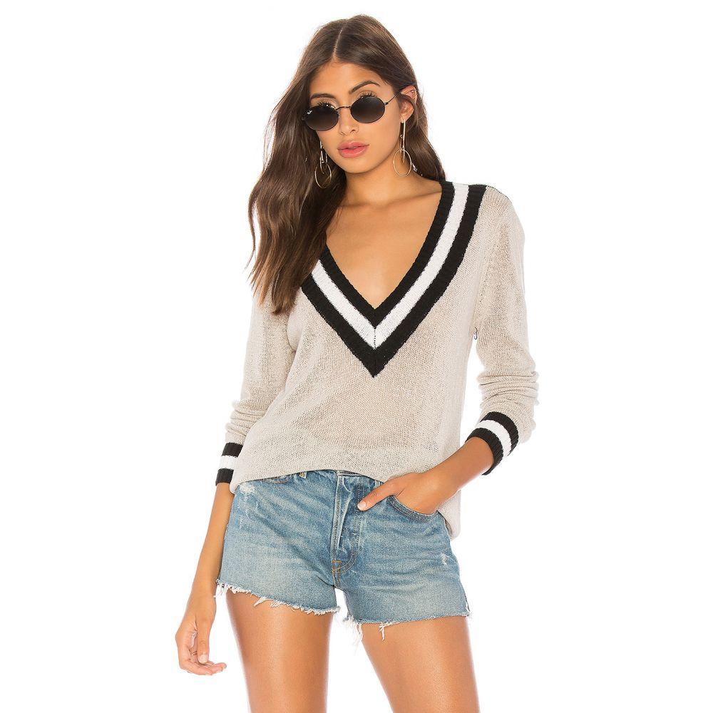 スーパーダウン superdown レディース トップス ニット・セーター【Bobbie V Neck Sweater】Light Grey Multi