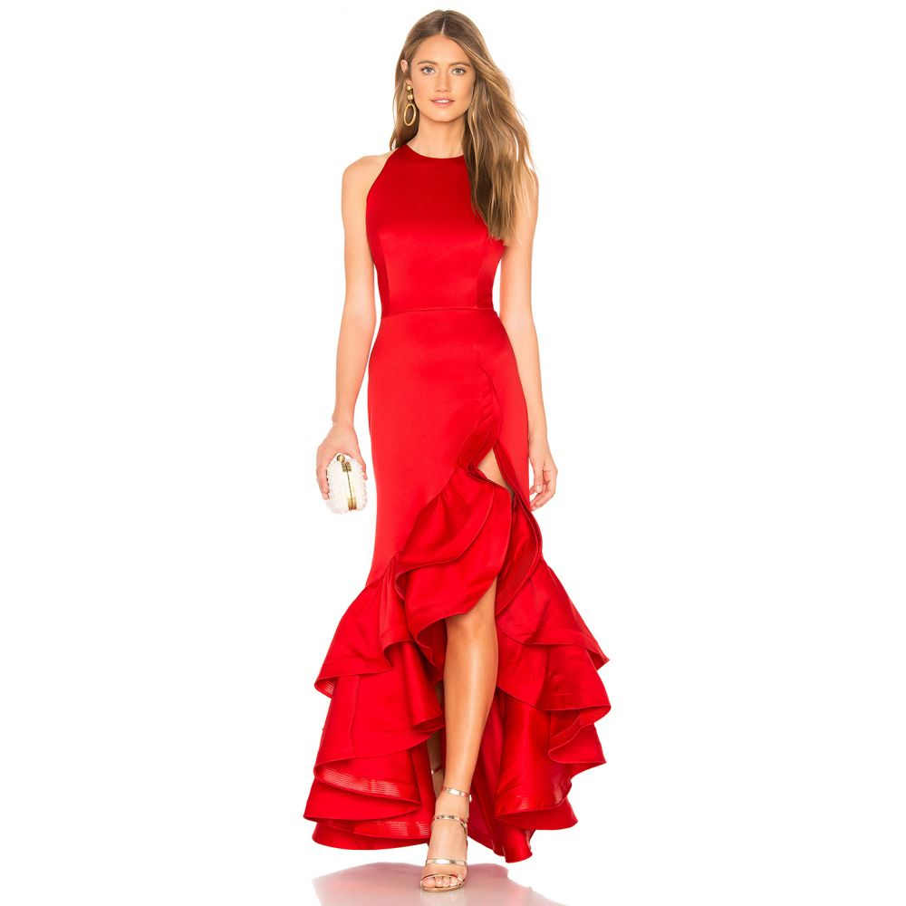 ブロンクス アンド バンコ Bronx and Banco レディース ワンピース・ドレス パーティードレス【Frida Flame Gown】Red