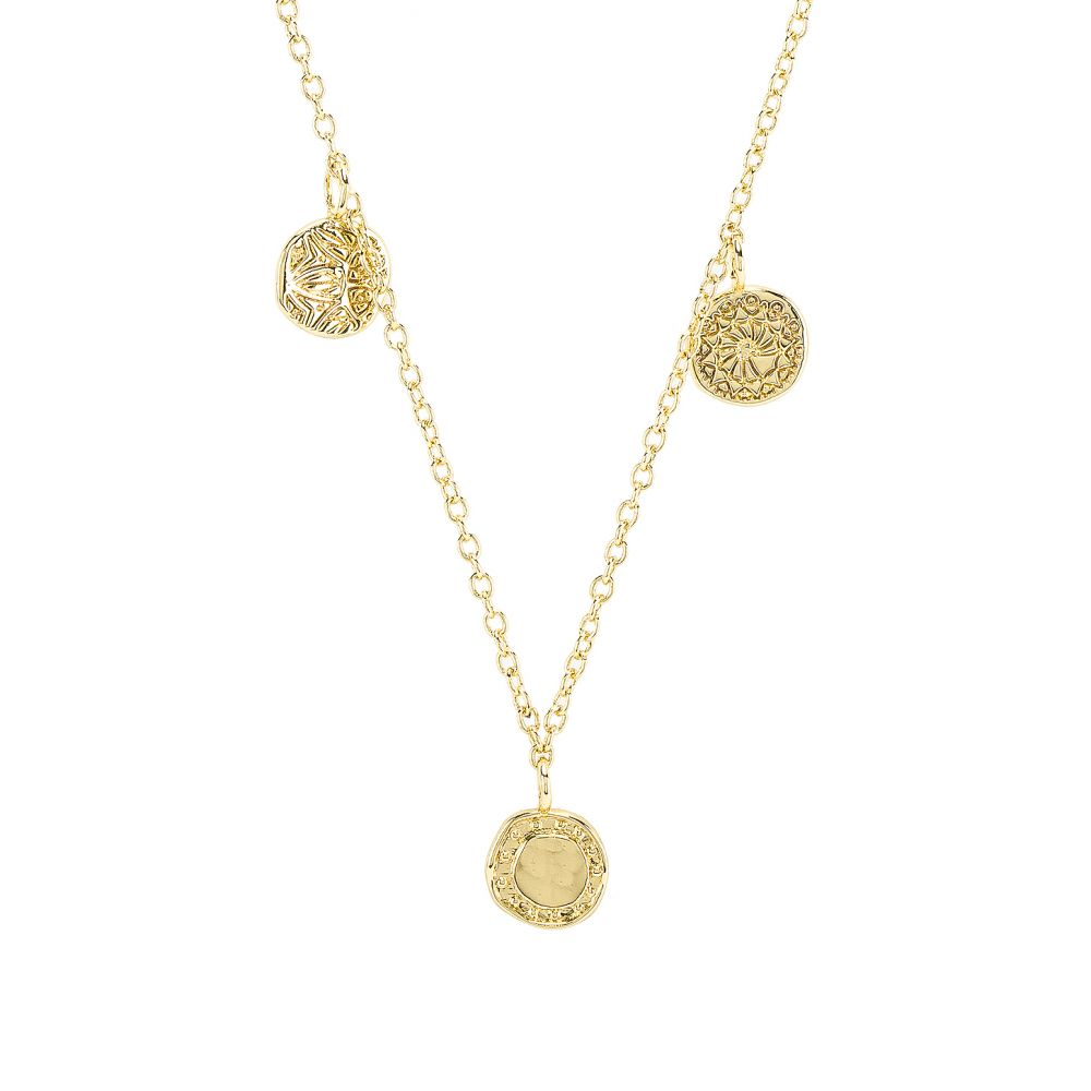 ゴリアナ gorjana レディース ジュエリー・アクセサリー ネックレス【Cruz Mixed Coin Necklace】Gold
