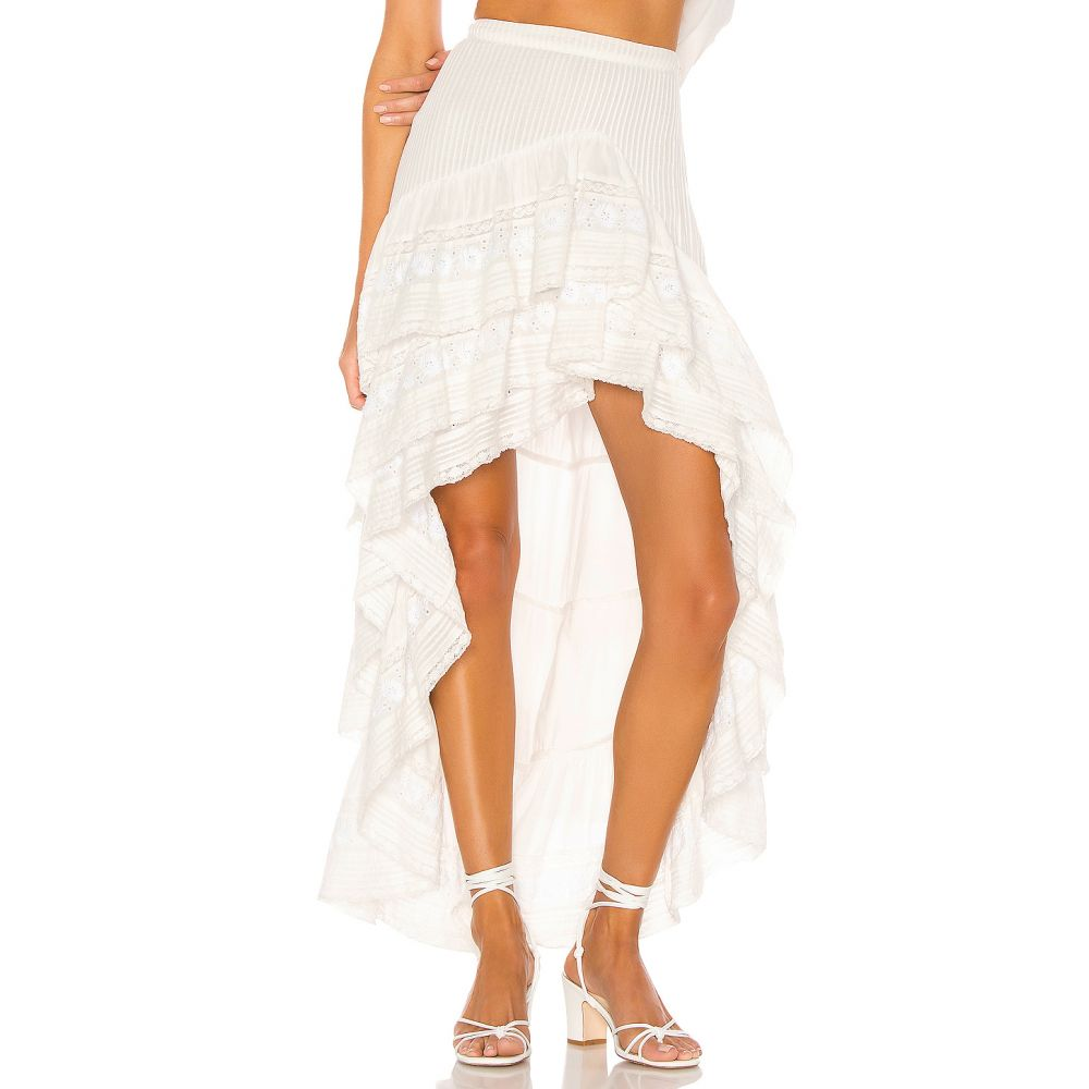ラブシャックファンシー LoveShackFancy レディース スカート ロング・マキシ丈スカート【Lisette Maxi Skirt】Antique White