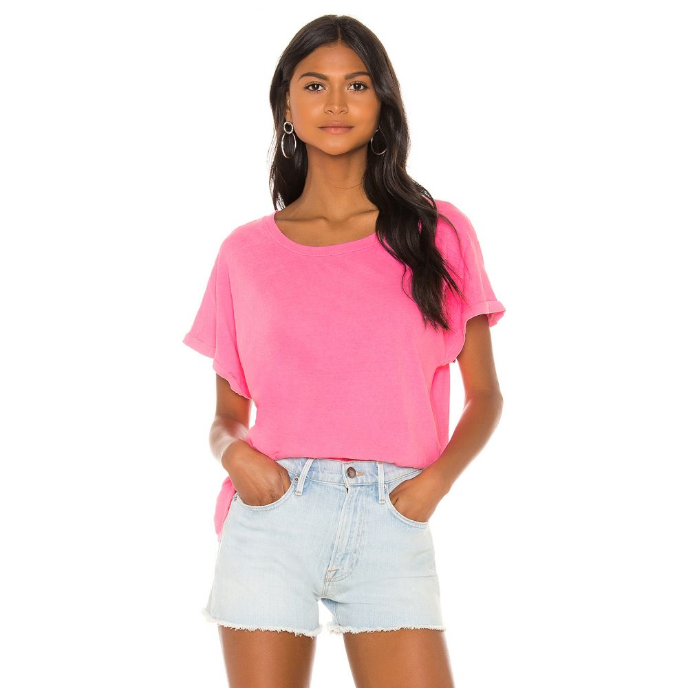 サンドリー SUNDRY レディース トップス Tシャツ【Square Tee】Pigment Neon Pink
