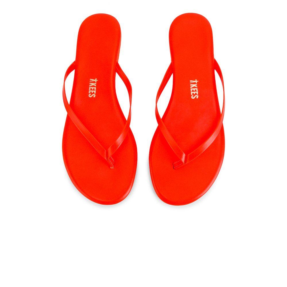 ティキーズ TKEES レディース シューズ・靴 ビーチサンダル【Neons Flip Flop】Orange Neons