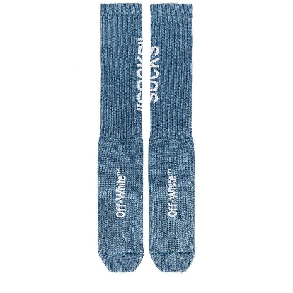 オフ-ホワイト OFF-WHITE メンズ インナー・下着 ソックス【EXCLUSIVE Socks】Blue