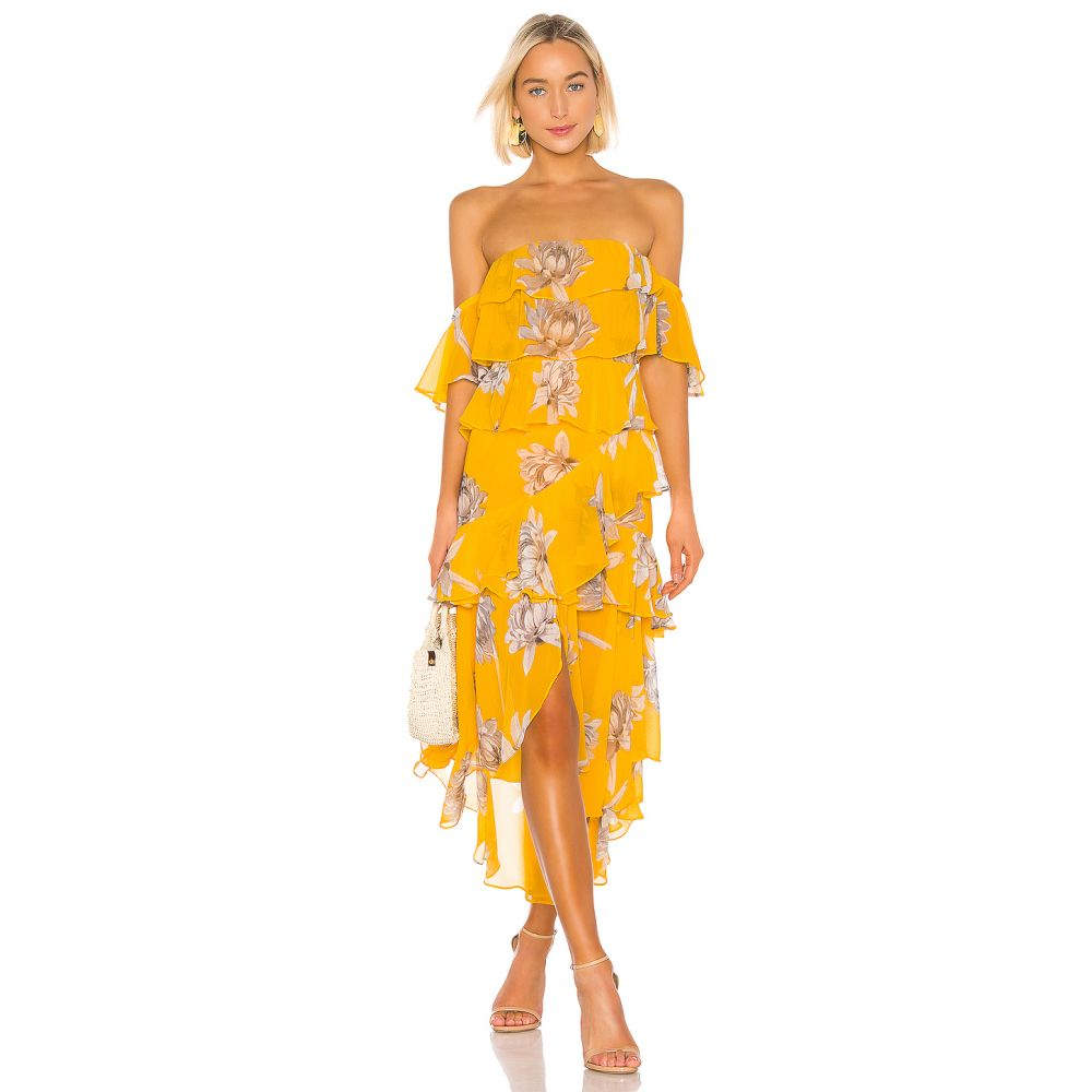 ミサロサンゼルス MISA Los Angeles レディース ワンピース・ドレス ワンピース【Dalila Dress】Yellow Floral