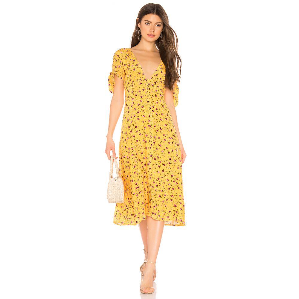 プライバシー プリーズ Privacy Please レディース ワンピース・ドレス ワンピース【Hermosa Midi Dress】Yellow & Pink Floral