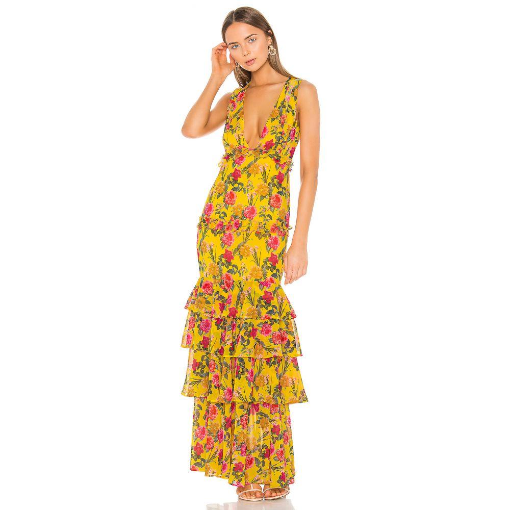 ラヴァーズフレンズ Lovers + Friends レディース ワンピース・ドレス パーティードレス【Dipinto In Oro Gown】Yellow Garden