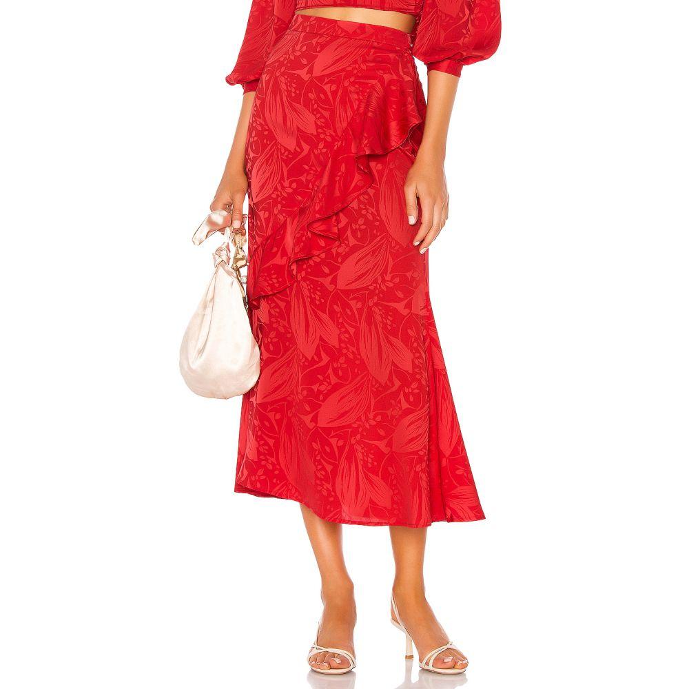 ソング オブ スタイル Song of Style レディース スカート ひざ丈スカート【Eaton Midi Skirt】Scarlet Red