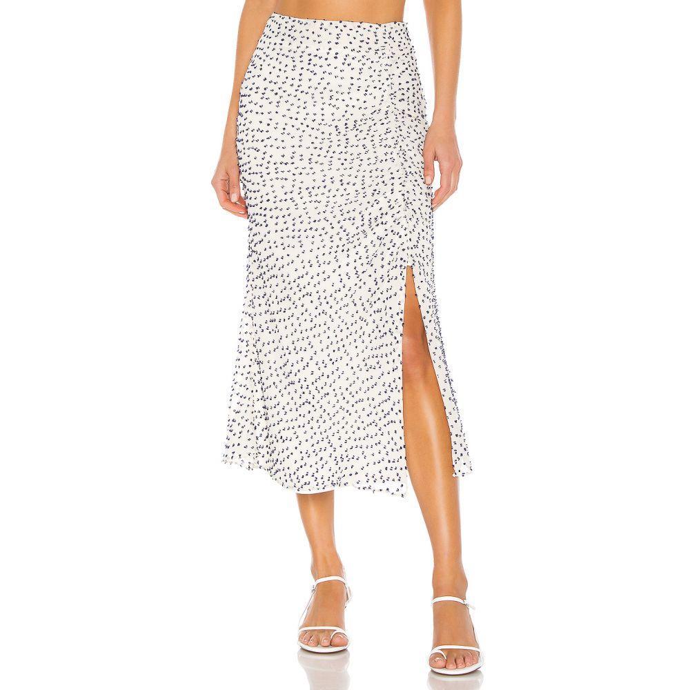ハウスオブハーロウ1960 House of Harlow 1960 レディース スカート ひざ丈スカート【X REVOLVE Margot Midi Skirt】White & Navy
