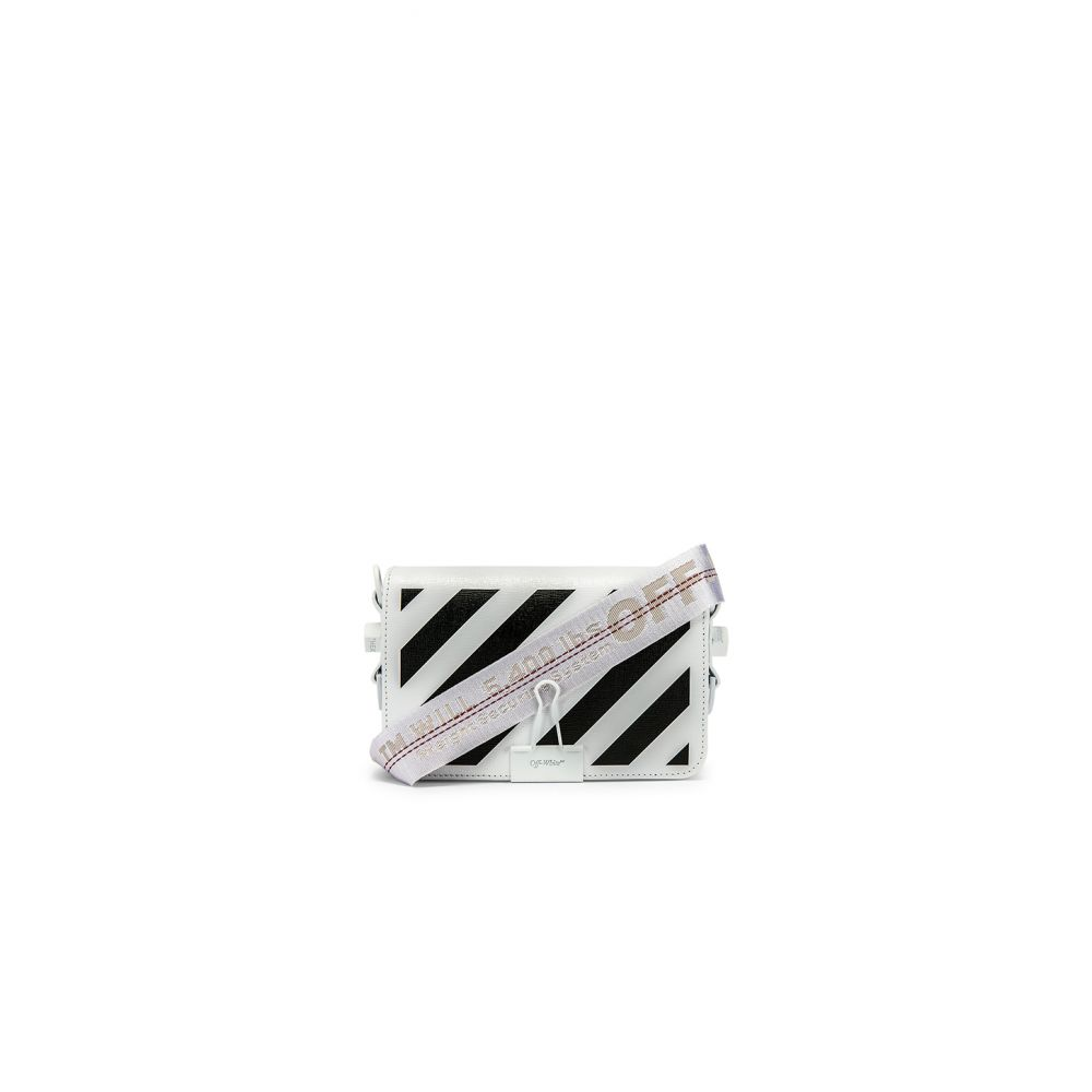 オフホワイト OFF-WHITE レディース バッグ 【Diagonal Mini Flap Bag】White Black