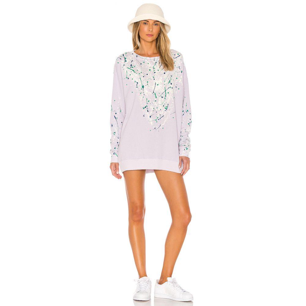 ワイルドフォックス Wildfox Couture レディース ワンピース スウェットワンピ ワンピース・ドレス【Bleach Dripped Roadtrip Sweatshirt Dress】Iris