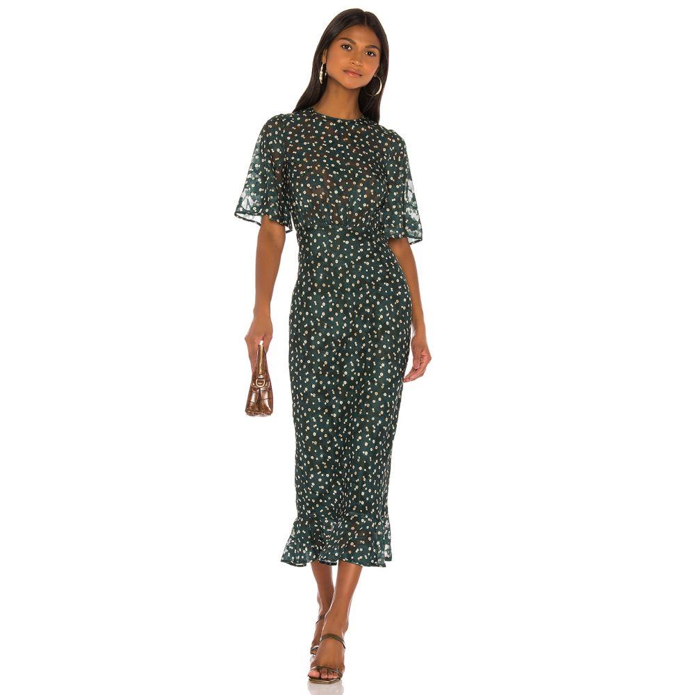 トゥラロサ Tularosa レディース ワンピース ワンピース・ドレス【Ziggy Dress】Hunter Green Floral