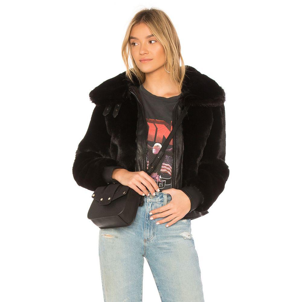 ブランクニューヨーク BLANKNYC レディース ジャケット アウター【Black Noise Faux Fur Jacket】Black