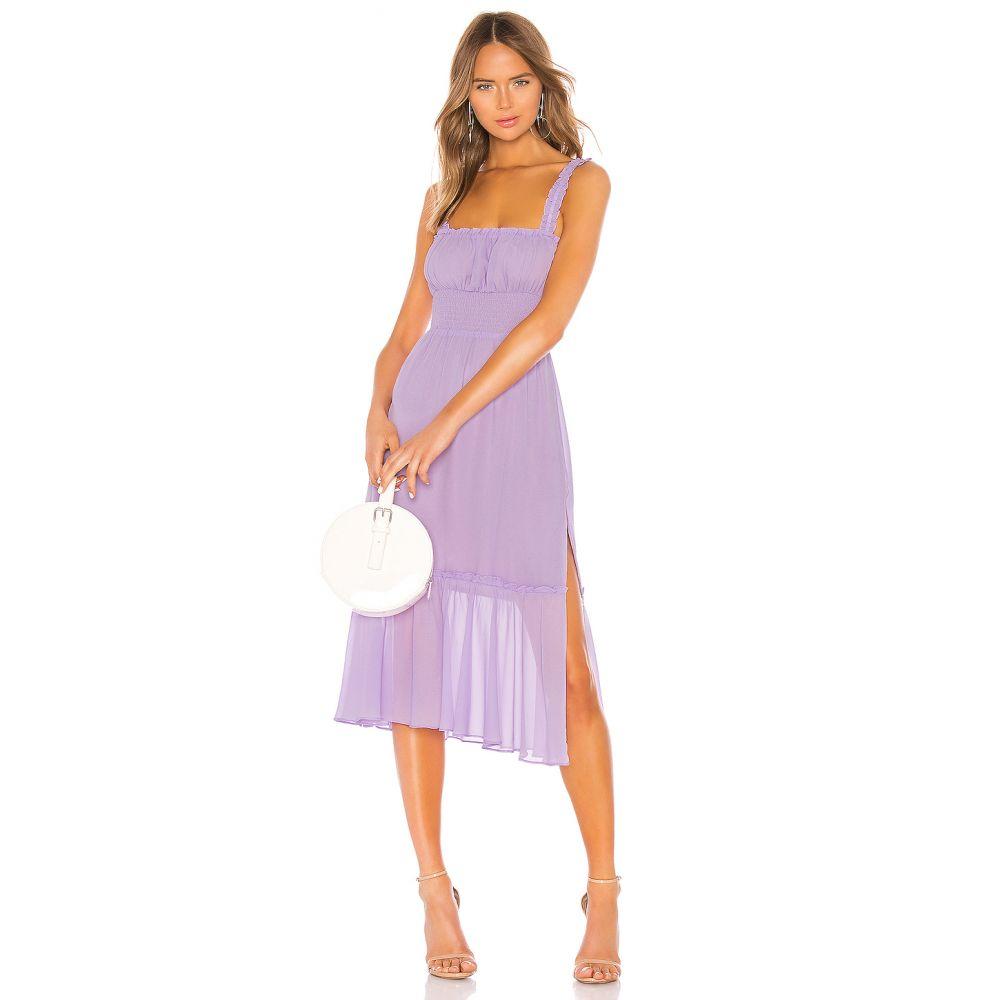 ラヴァーズフレンズ Lovers + Friends レディース ワンピース ミドル丈 ワンピース・ドレス【Arden Midi Dress】Lilac Purple