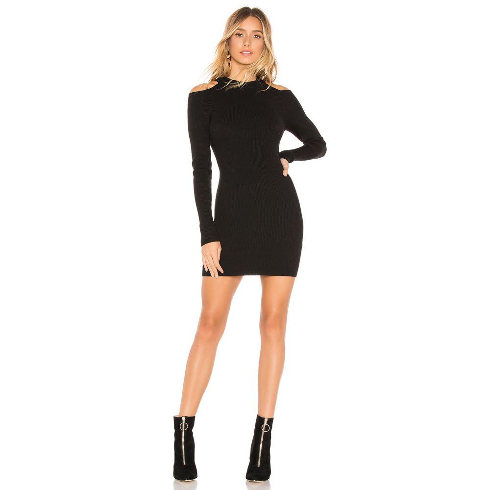スーパーダウン superdown レディース ワンピース ワンピース・ドレス【Tula Cold Shoulder Sweater Dress】Black