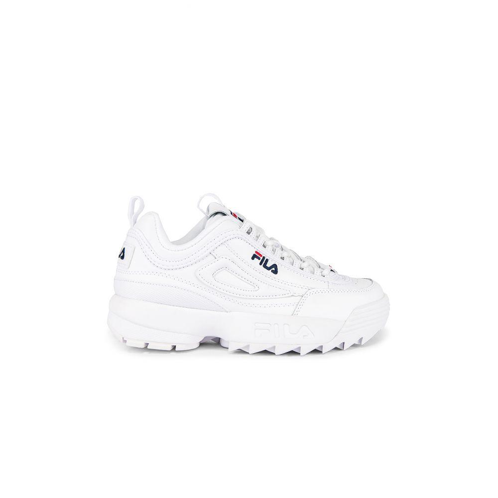 フィラ Fila レディース スニーカー シューズ・靴【Disruptor II Premium Sneaker】White/Navy/Red