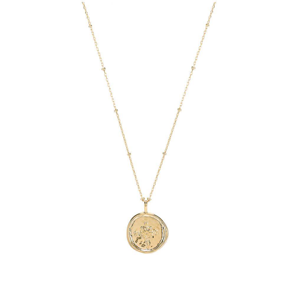 ゴリアナ gorjana レディース ネックレス ジュエリー・アクセサリー【Compass Coin Necklace】Gold