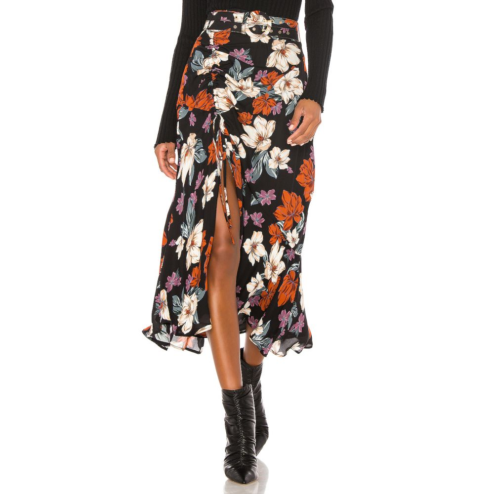 ニコラス NICHOLAS レディース スカート 【Side Gathered Skirt】Rust Multi