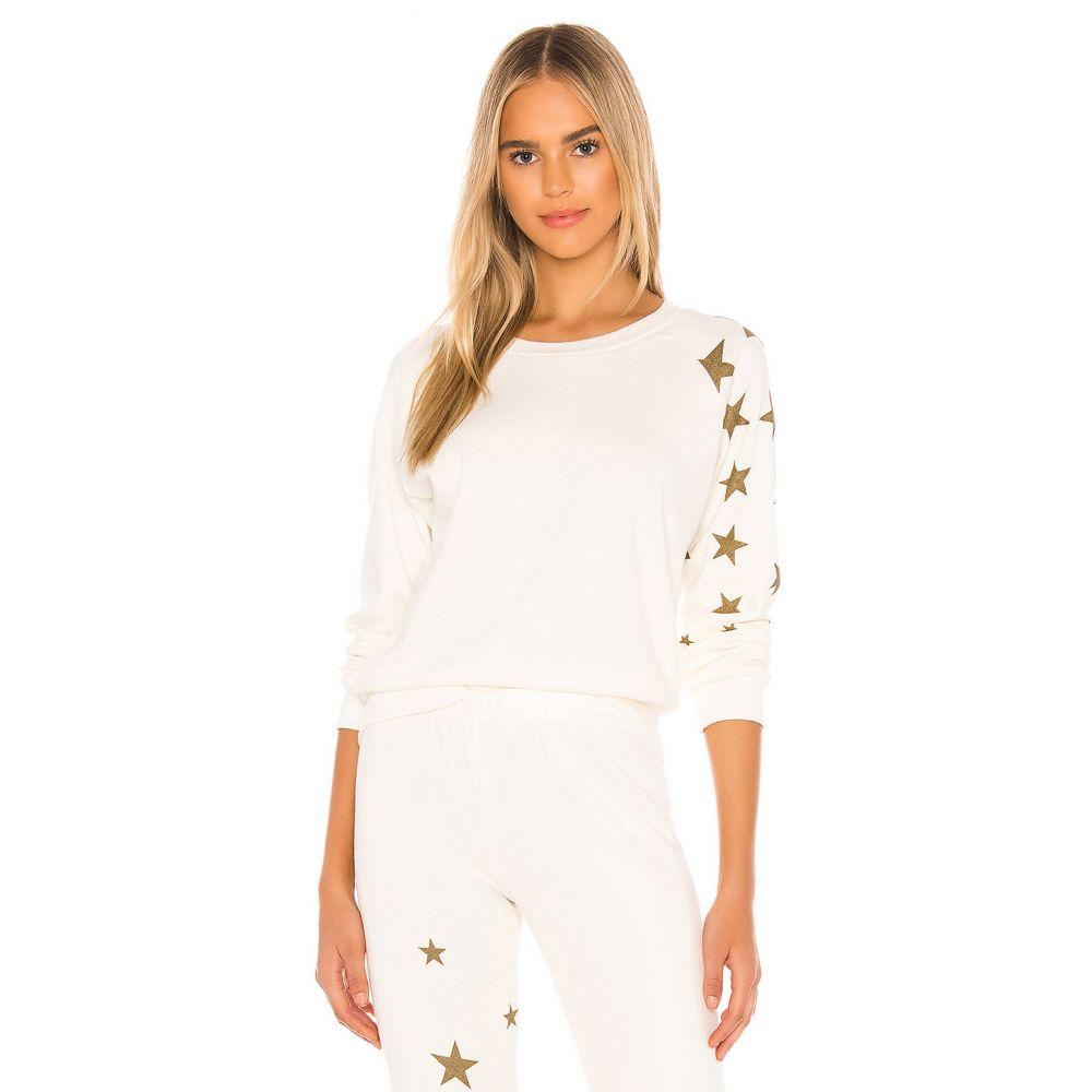ワイルドフォックス Wildfox Couture レディース スウェット・トレーナー トップス【Fiona Star Jockey Sweatshirt】Antique
